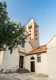 Old Town of Rab, Croatian island famous for its four bell towers Stock Images