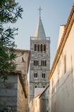 Old Town of Rab, Croatian island famous for its four bell towers Royalty Free Stock Photo