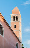 Old Town of Rab, Croatian island famous for its four bell towers Royalty Free Stock Photography