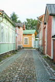 The old town of Rauma, Finland. RAUMA -FINLAND On 07/31/ 2009 wooden houses in the town of Rauma, Unesco world Heritage, Finland Stock Image