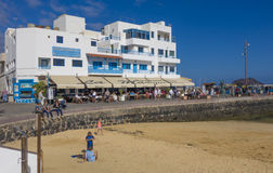 Old-town restuarant on the quey,Corralejo Stock Photo