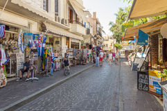 The old town in Rethymno Stock Photo