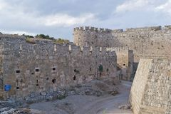The old town of Rhodes Stock Photography