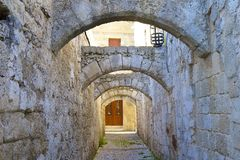 Old town of Rhodes, Greece Stock Image