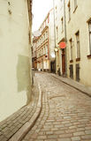 Old town in Riga. The old narrow street in Riga Royalty Free Stock Images