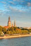 Old town Riga and Daugava Stock Photography