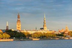 Old town Riga and the Daugava Royalty Free Stock Photos