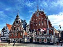 House of the Blackheads, Riga. Stock Photos