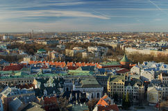 Old Town of Riga (Latvia)  in the evening Stock Image