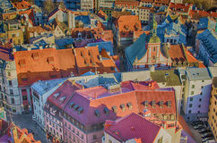 Old Town of Riga (Latvia)  in the evening Royalty Free Stock Image