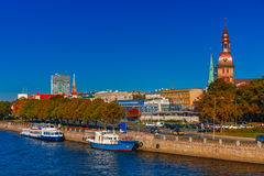 Old Town and River Daugava, Riga, Latvia Royalty Free Stock Photo