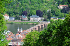 Old town beside river,Heidelberg,Germany Stock Images