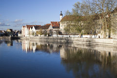 Old Town at River Lech in Landsberg Stock Photos