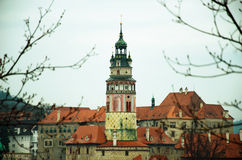 Old town roof view, Chesky Krumlov Royalty Free Stock Photos