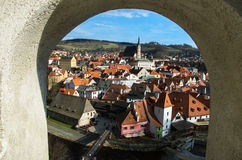 Old town roof view of Czech Replublic Royalty Free Stock Images