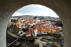 Old town roof view of Czech Replublic Royalty Free Stock Photo