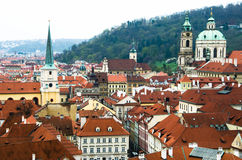 Old town roof view in Czech Republic Stock Photo