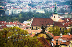 Old town roof view in Czech Republic Stock Image