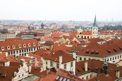 Old town roof view in Czech Republic Royalty Free Stock Photos