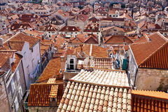 Old Town rooftops Stock Photo