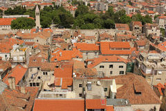 Old town. rooftops. Split.Croatia Royalty Free Stock Photos