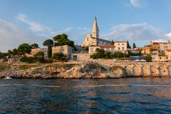 The old town of Rovinj, Croatia. royalty free stock images