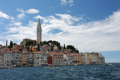 Old town Rovinj in Croatia in the summer day Stock Photography