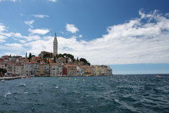 Old town Rovinj in Croatia in the summer day Royalty Free Stock Photos