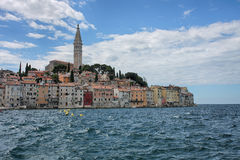 Old town Rovinj in Croatia in the summer day Royalty Free Stock Images