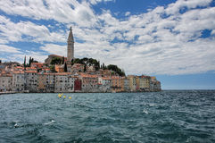 Old town Rovinj in Croatia in the summer day Stock Photo