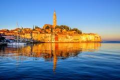 Old town of Rovinj, Croatia, on sunrise Royalty Free Stock Image