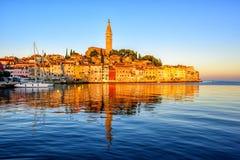 Old town of Rovinj, Croatia, on sunrise Stock Photo