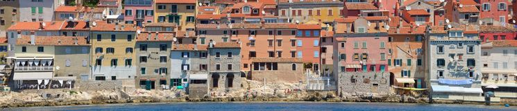 Old Town of  Rovinj Istria Croatia  Waterfront Panorama Stock Images