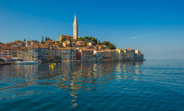 Old town of Rovinj, Istrian Peninsula, Croatia. Beautiful old town of Rovinj, Istrian Peninsula, Croatia royalty free stock photo