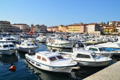 The old town of Rovinj and its marina Royalty Free Stock Photo