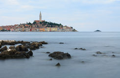 Old town Rovinj in the summer day in Croatia Royalty Free Stock Photo