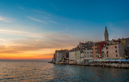 Old town of Rovinj at sunset, Istrian Peninsula, Croatia Royalty Free Stock Photography