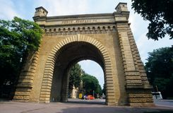 Old town's gate Porte Serpenoise at Metz Stock Photography
