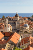 Old Town's skyline in Dubrovnik Royalty Free Stock Image