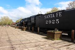 Old town Sacramento California USA. On a cracking bluebird day stock image