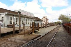 Old town Sacramento Railway linse California USA Stock Photography
