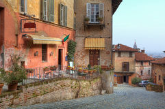 Old town of Saluzzo. Northern Italy. Stock Photos