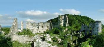 Old Town of Samobor. Old ruins of ancient Croatian Town Samobor stock image