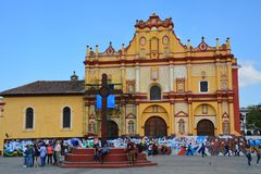 Church San Cristobal de las Casas Chiapas Mexico royalty free stock images