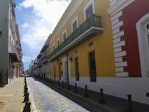 Old town San Juan, Puerto Rico. La Fortaleza Street stock image