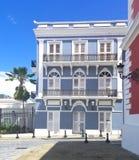 Old town San Juan, Puerto Rico. La Fortaleza Street stock photo