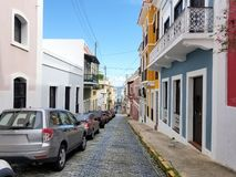 Old town San Juan, Puerto Rico. Sunny Summer day royalty free stock photography