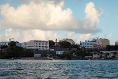 Old Town San Juan. From the sea stock images