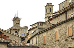 Old town in San Marino Royalty Free Stock Photo