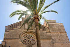 Old Town, Sant Jaume church in Majorca. Alcudia, Mallorca, Balearic island, Spain 28.06.2017. Old Town Sant Jaume church in Majorca. Alcudia Mallorca Balearic Royalty Free Stock Image